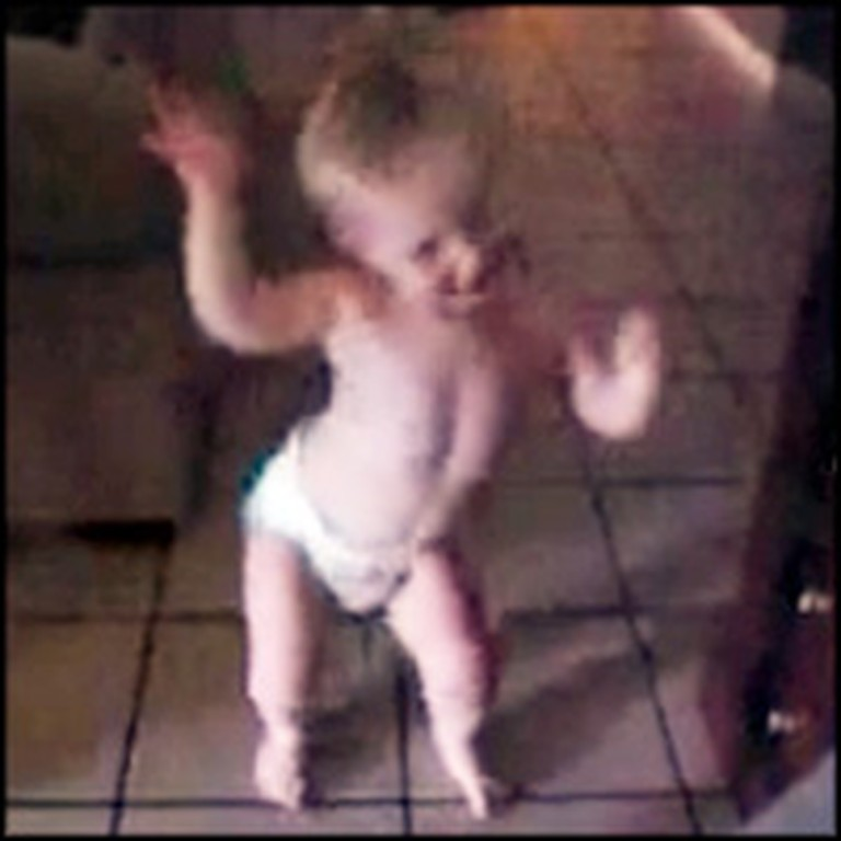 Adorable and Happy Baby Boogies Down to Some Music