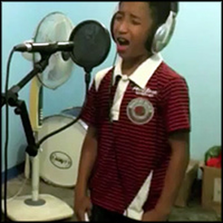 Little Boy Sings The Prayer and Sounds Like an Angel