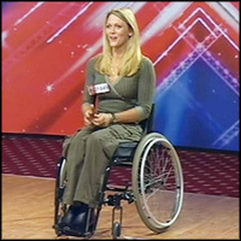 Paralyzed Single Mom Wows the Judges With Her Performance