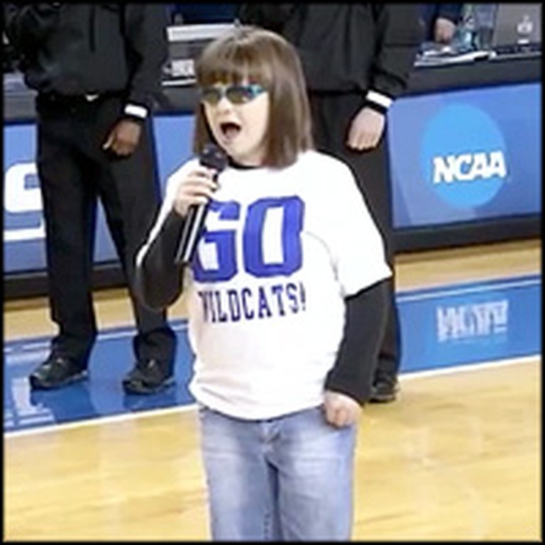 Blind Disabled Girl Sings a Breathtaking Version of the Star Spangled Banner