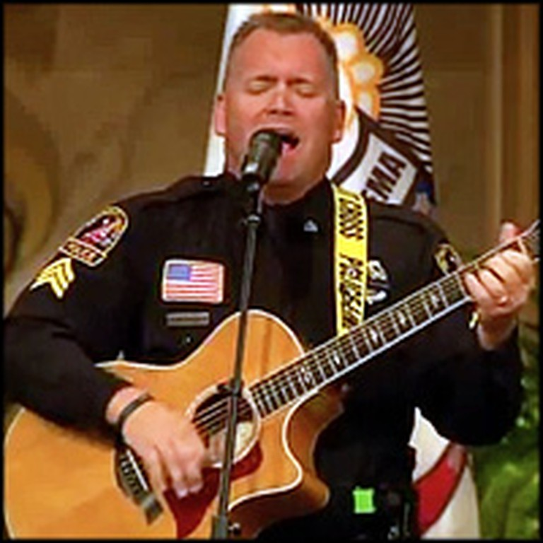 Police Officer Sings I Can Only Imagine at the Funeral of Slain Officer
