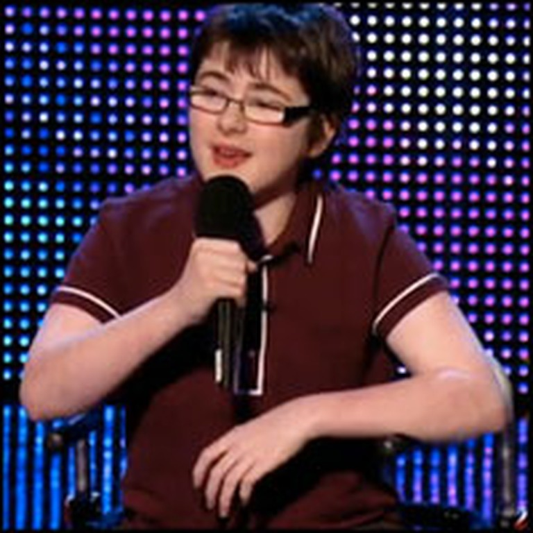 14 Year-Old with Cerebral Palsy Wins Over Millions with His Witty Comedy