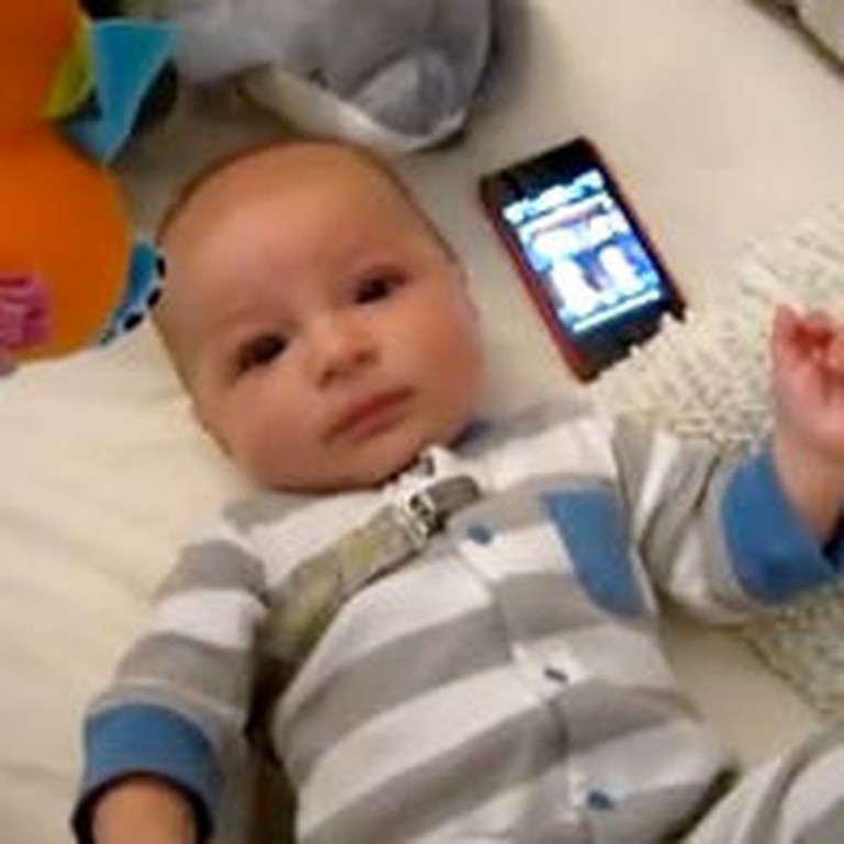 Crying Baby is Calmed by the Silliest Thing