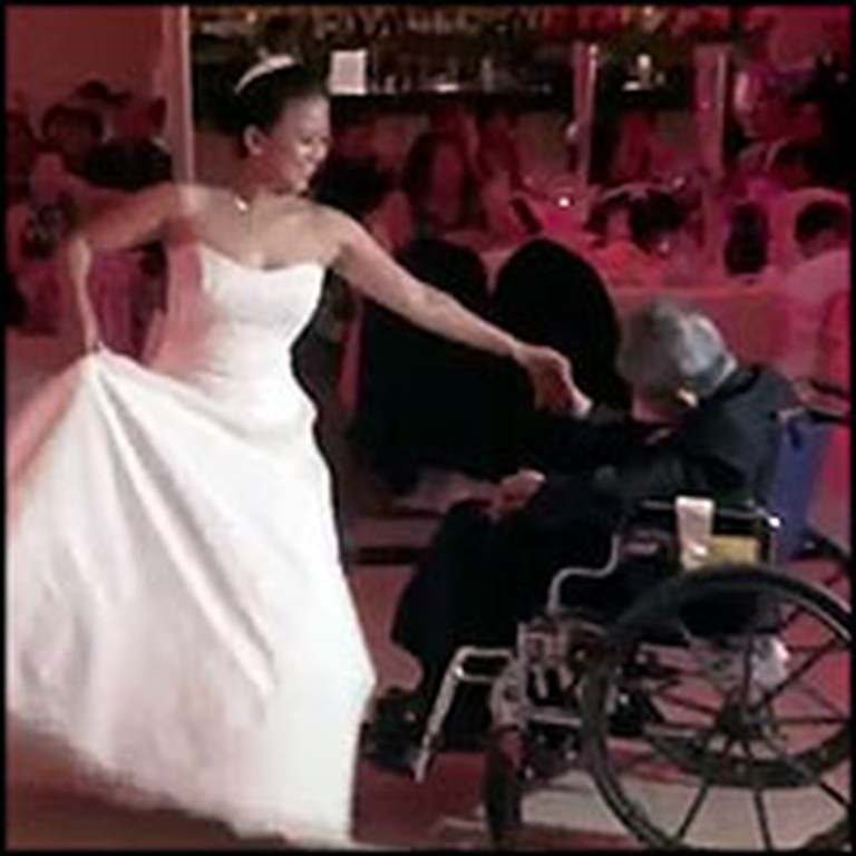 Wheelchair Bound Father and Bride Have the Most Touching First Dance