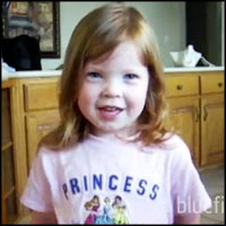 Darling Little Girl Recites Psalm 23 From Memory
