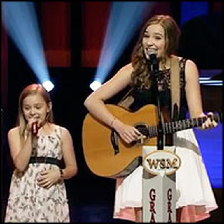 2 Singing Sensation Sisters Perform on the Opry Stage
