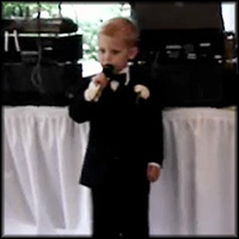 Little Boy Delivers the Cutest Wedding Speech