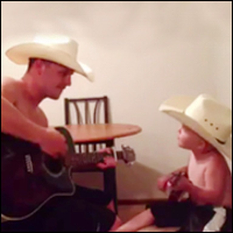 Cowboy Daddy and Baby Buckaroo Sing the CUTEST Country Duet
