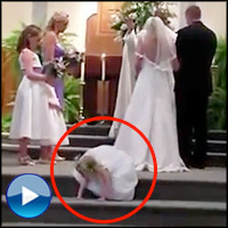 Flower Girl Does Something Hilarious During a Beautiful Wedding