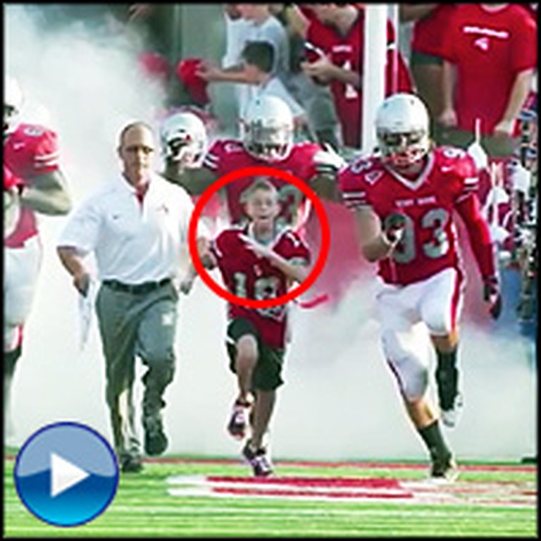Child with Brain Cancer is Befriended by College Football Team