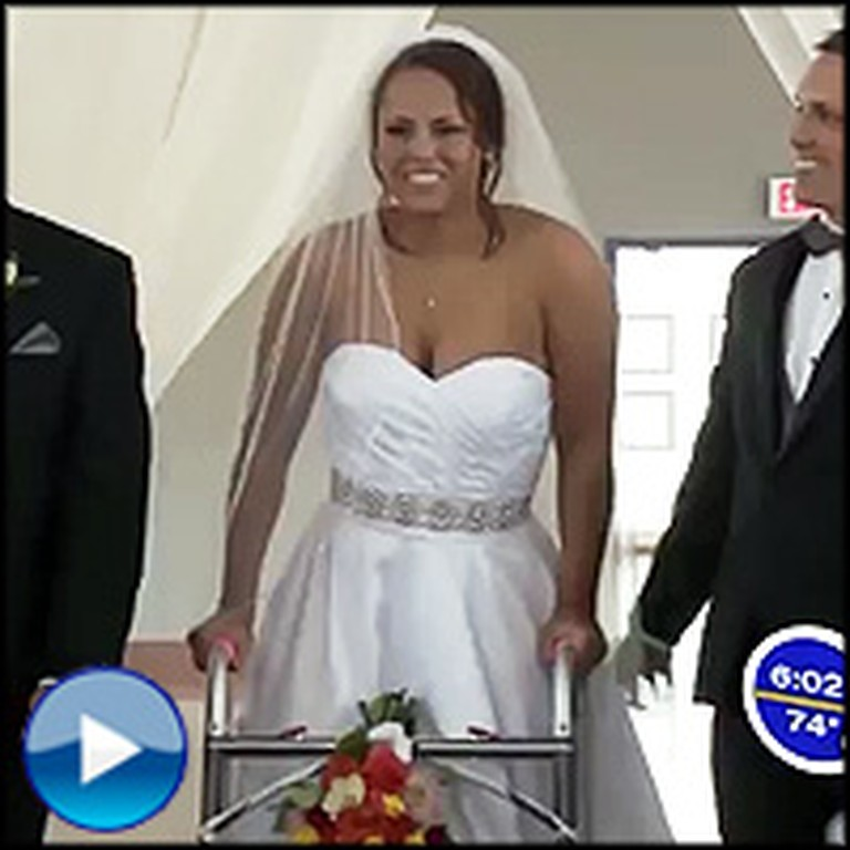 Bride Paralyzed for 7 Years Does Something Miraculous at Her Wedding - Unbelievable!