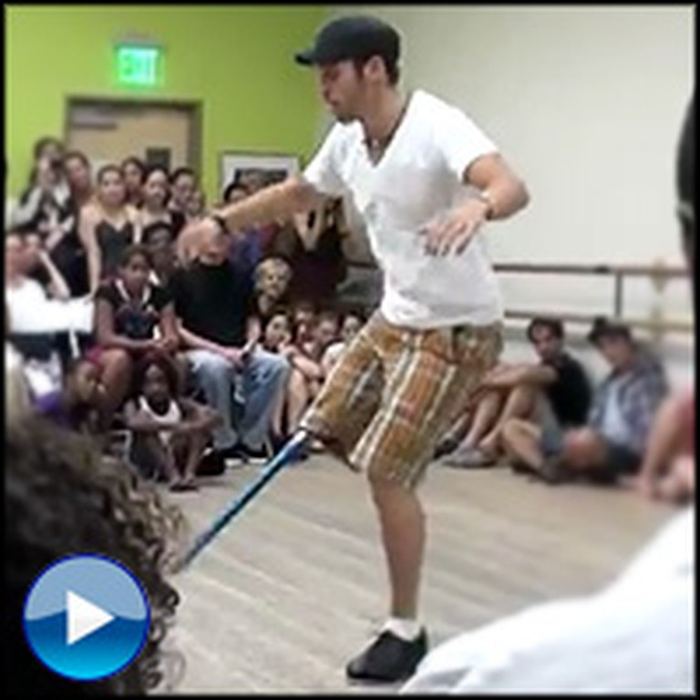 A One-Legged Tap Dancer is a Miracle in Action - Unbelievable!