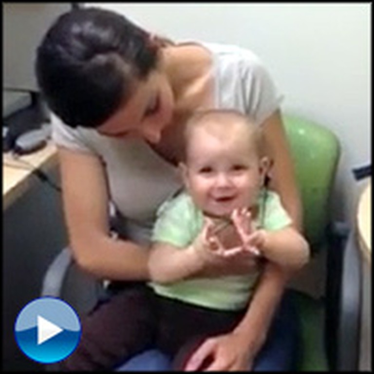Blessed Moment a Baby Hears Her Parents for the FIRST Time