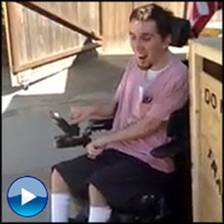 Wheelchair-Bound Boy Gets the Most Touching Surprise