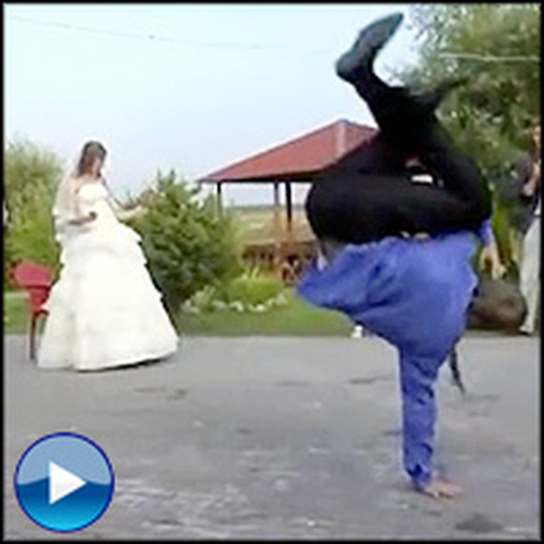 Groom Celebrates His Wedding... by Having an Epic Dance-Off