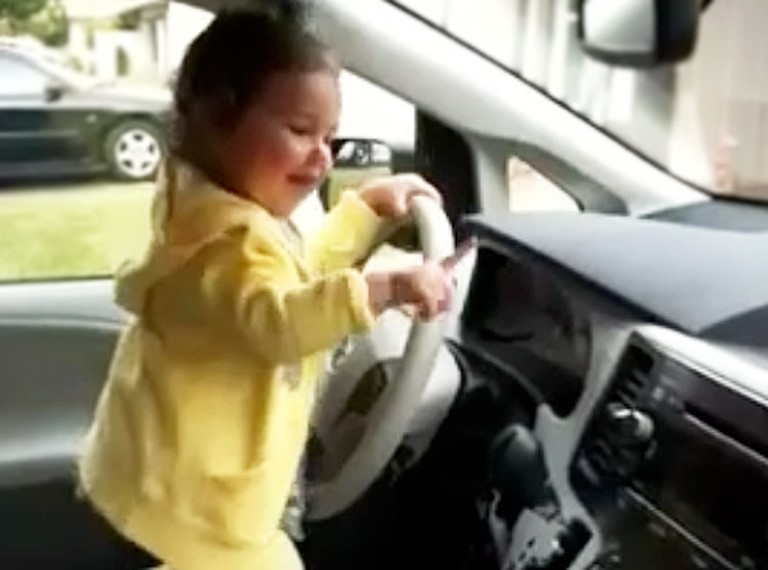 Adorable Toddler Has the Cutest Dance Party in Her Car - LOL