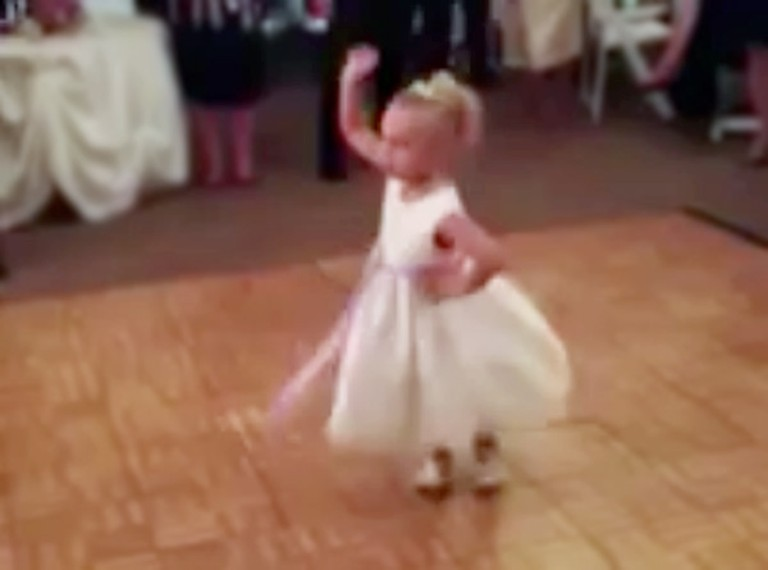 Flower Girl Steals the Show at Wedding Reception - With the Cutest Dance