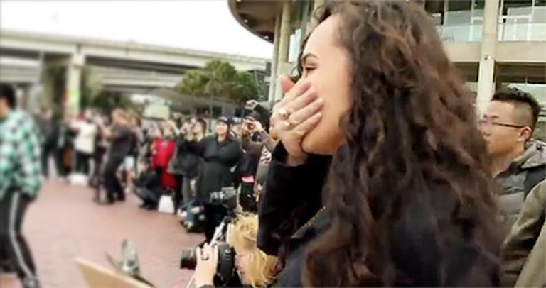 You've Never Seen a Romantic Surprise Like This Before - and Neither Did She!