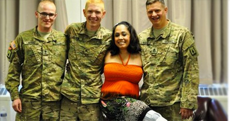 Three Soldiers Acted as Guardian Angels for a Woman in a Terrible Accident