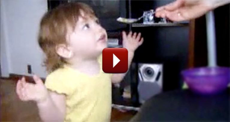 Cute Baby Thinks She is Having a Discussion With Daddy - But Does This Instead