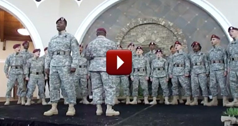 You Will Feel Proud to Be an American After You Listen to This Soldier Choir :)
