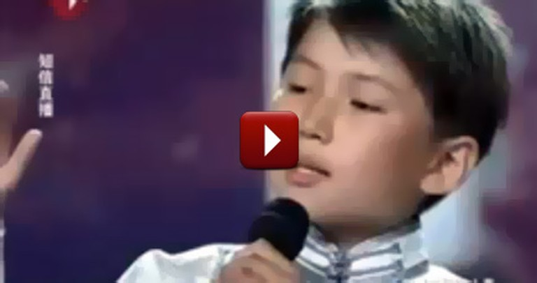 11 Year Old Orphan in China has the Voice of an Angel