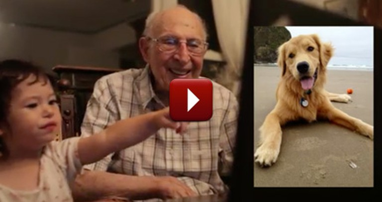 A 91 Year-Old and 18 Month-Old Spend Adorably Spend Time Together
