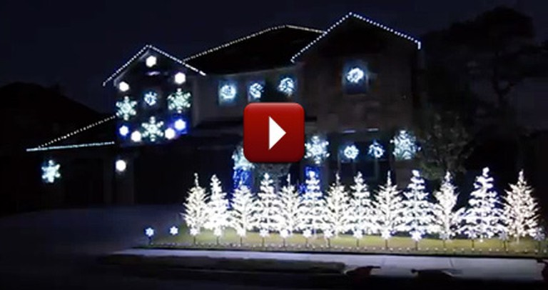 Someone is Ready for the Holidays - Check Out This Amazing Light Display