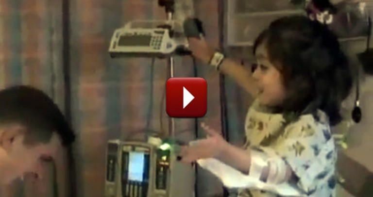 Soldier Surprises his Little Girl in the Hospital - You'll Love her Reaction