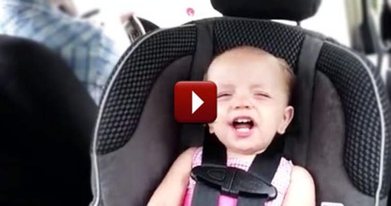 Sweet Baby Girl Sings Her Heart Out to Elvis in the Car - Adorable