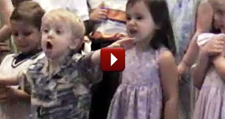 Hilarious Little Boy Steals the Show During a Church Performance