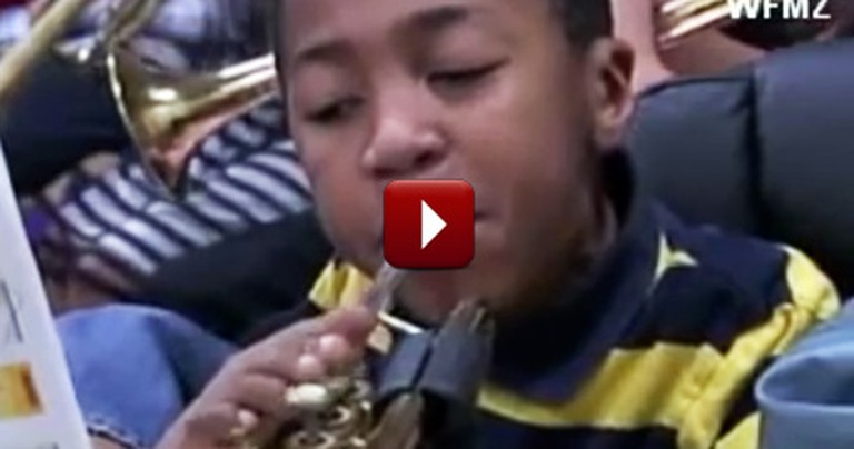 A Talented Young Trumpet Player is Missing His Arms, But You'd Never Notice