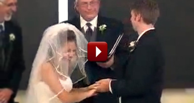 Cute Bride and Groom Can't Stop Laughing During Their Vows