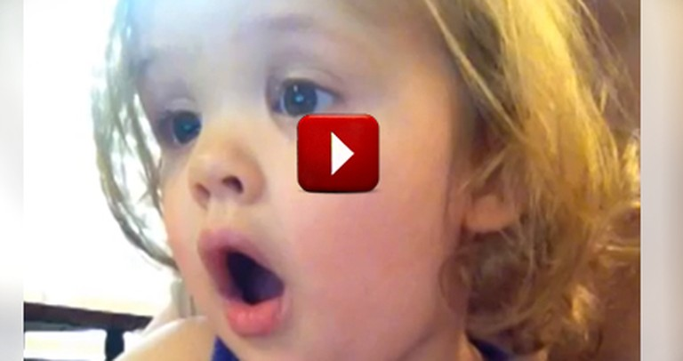 2-Year-Old Gets Emotional Watching Parents' Wedding Video