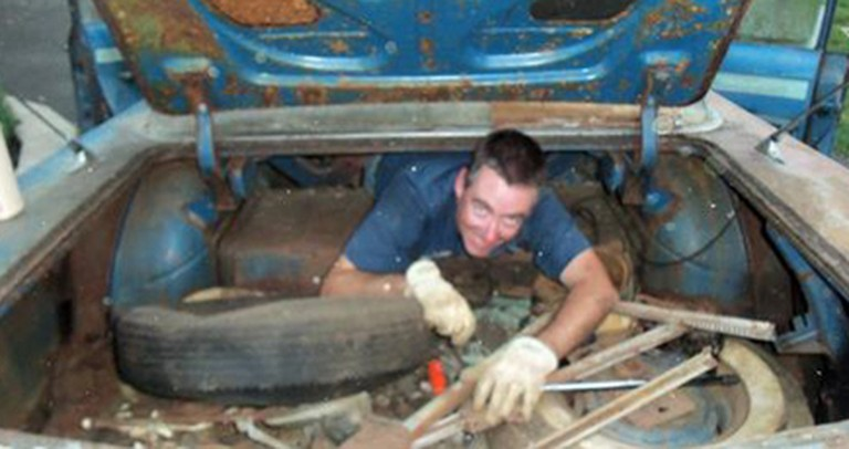 A Rusted Car Bought at Auction Gives Son Gift of Time with His Late Parents