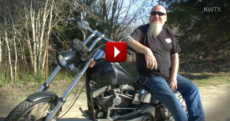 This Biker Has a Heart of Gold, But It's Not Exactly His!