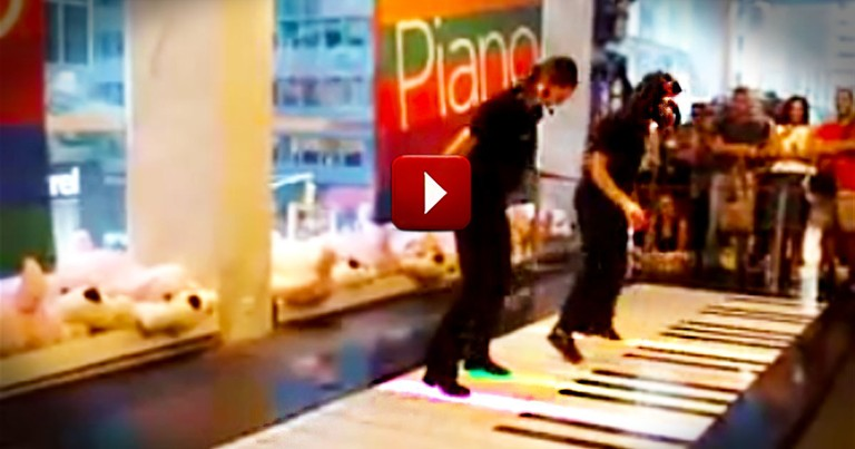 The Coolest Piano Duet You'll Ever See Performed on a Giant Piano