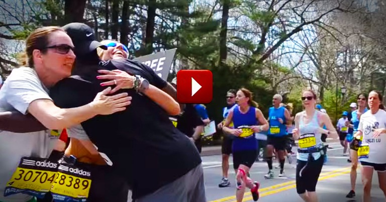 This Guy Found The Best Way To Revive These Tired Souls. One Hug At A Time!