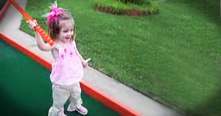 This 2-Year-Old Just Made A Hole-In-One! When You See How You're Sure To Smile.