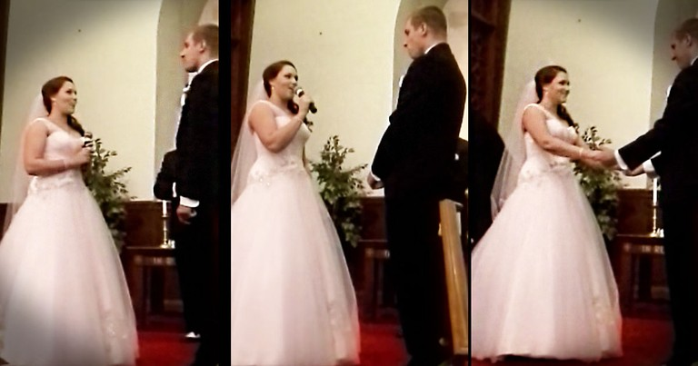 This Bride Had The Best Surprise For Her Groom at the Altar. When You Hear It, You'll Say HALLELUJAH