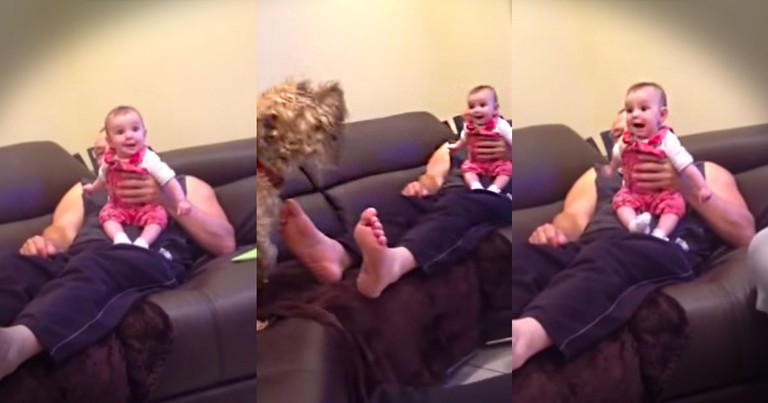 This Baby Is Having A Doggone Good Time. And You'll LOL When You See WHY!