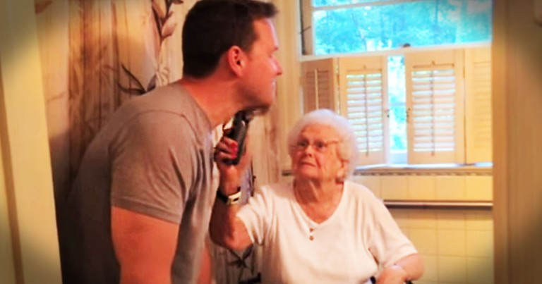 What This Man Did For His Grandma's 100th Birthday Is A Bit Odd. But Her Reaction Is Priceless!