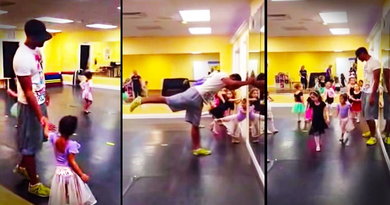 When You Learn Why This Dad's In Dance Class, Your Heart Will Melt! Awwww!