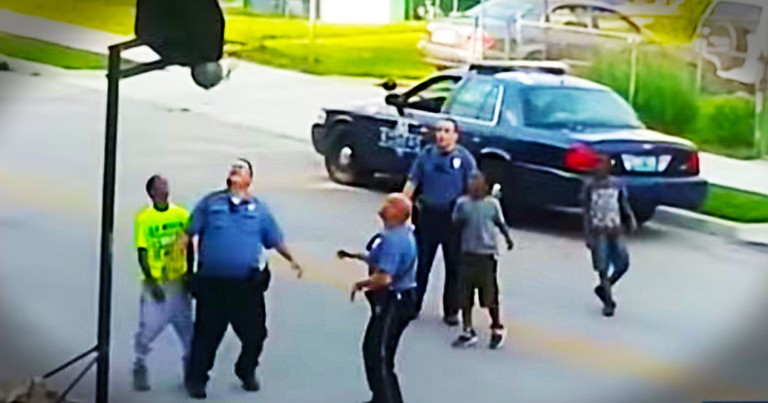 What These Officers Did Stunned Him So Much, He Pulled Out His Cell Phone Camera. This Is Awesome!