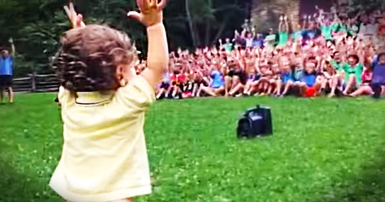 What Happens When A Toddler Is In Charge Of 500 Teenage Boys? THIS, And It's Adorable!