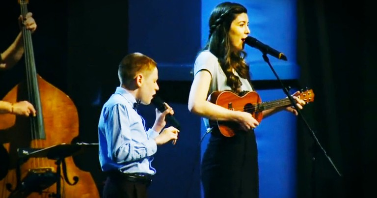 He's Blind And Has Autism, But God Blessed Him With Talent to WORSHIP. He And His Sister Will Amaze!