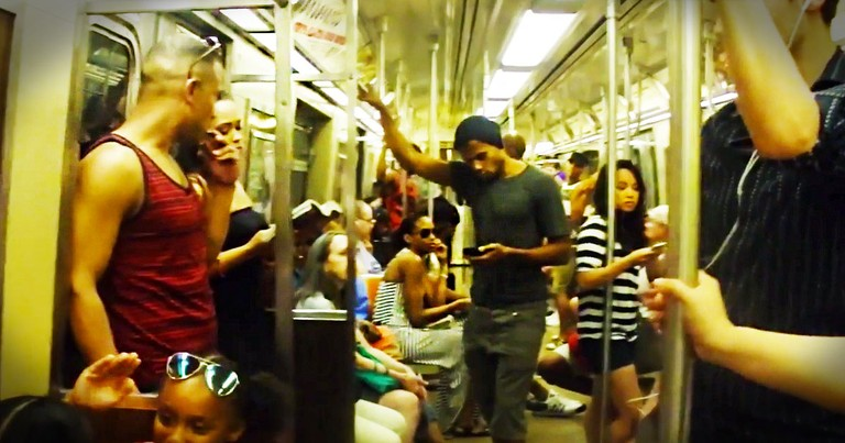 You Would Never Expect THIS To Happen On The Subway! I Wish I'd Seen This Roaring Surprise!