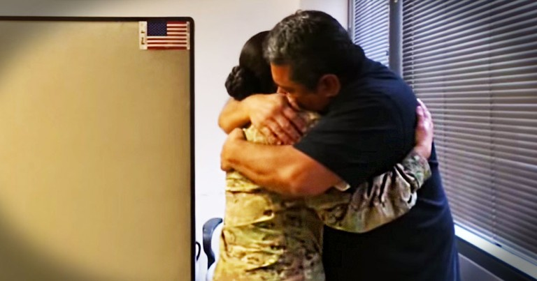 Just When You Think This Couldn't Get Better, She Sees Her Dad. Good Luck Holdin' Back The Tears!