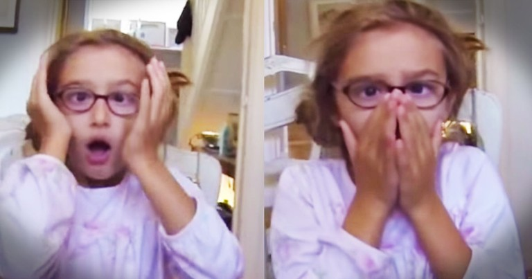 This Little Girl Just Got The Most Amazing Gift. Just Try Not To Cry, Everyone Else Is!