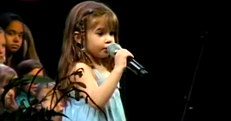 Cute 5 Year Old Kaitlyn Maher Sings Above All